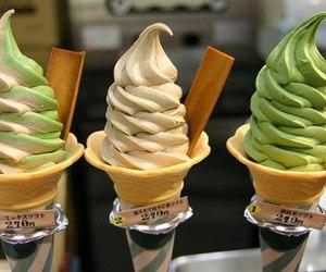 ice cream, food, and green image