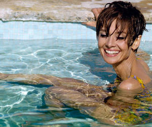 audrey hepburn, model, and pool image