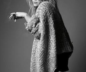 olsen, black and white, and cigarette image