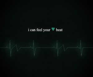 heartbeat and text image