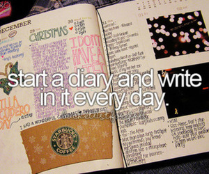 diary, write, and bucket list image
