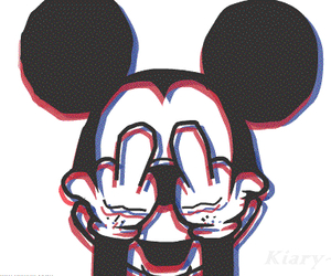 Fuck Middle Finger And Mickey Mouse Image