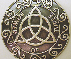 keychain, charmed, and triquetra image