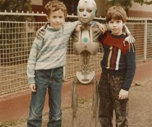 kids, robot, and friends image