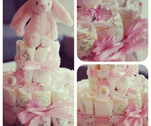 cake, diaper, and girl image