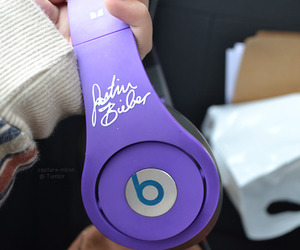 justin bieber, beats, and purple image