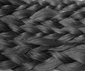 braid, hair, and black and white image