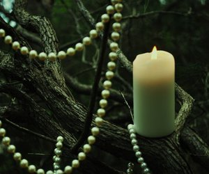 beads, tree, and candle image