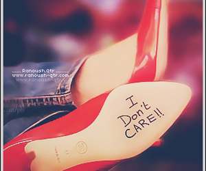 shoes, red, and i don't care image