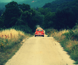 car, road, and red image