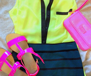 forever 21, lines, and neon image