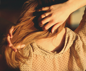 hair, girl, and photography image