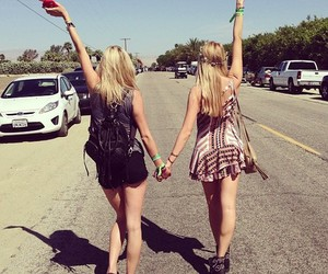 best friends, friendship, and girl image