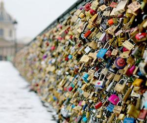love, paris, and locks image