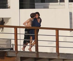 kissing, justin bieber, and selena gomez image