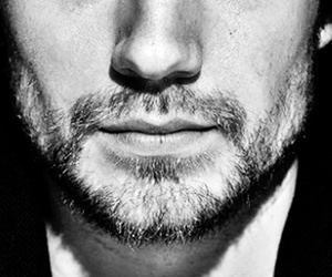 black and white, guy, and lips image
