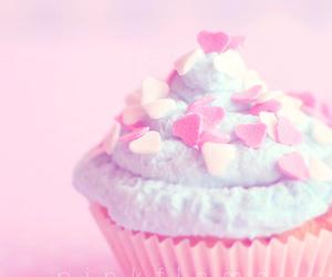 cupcake, food, and heart image