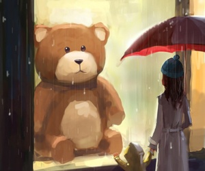 bear and rain image
