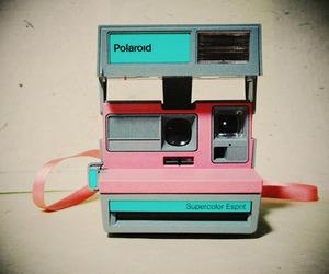 polaroid, camera, and pink image
