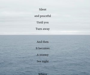 night, ocean, and peaceful image