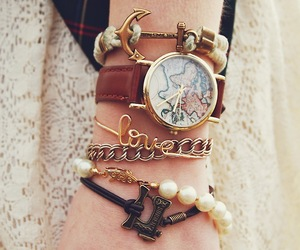 anchor, beauty, and bracelets image