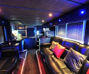 couch and tour bus image