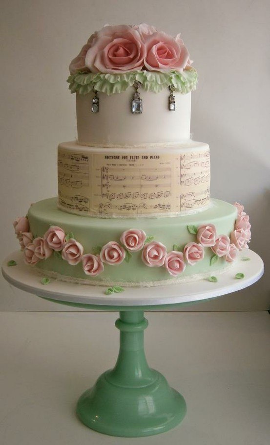 Pink Green Wedding Cakes | Get Married Cakes on We Heart It