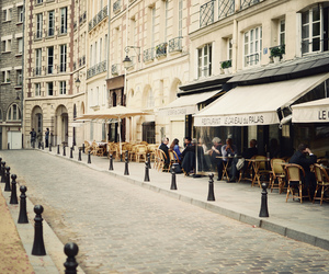 cafe, street, and paris image