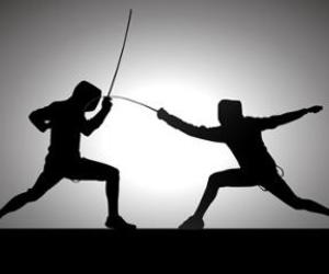 fencing, sport fencing, and foil image