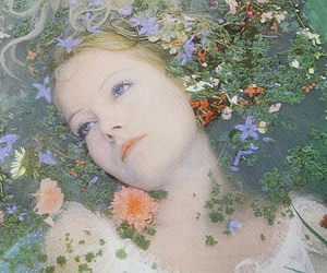flowers, ophelia, and water image