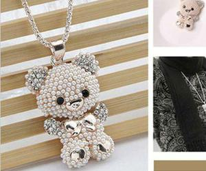 necklace, photography, and teddy bear image