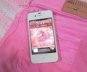 iphone, pink, and hollister image
