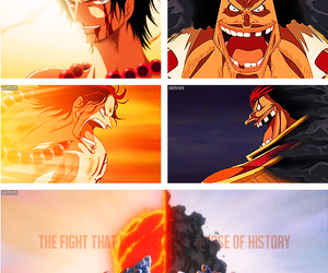 anime, fight, and portgas d. ace image