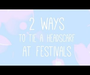 festivals, headscarf, and summer image