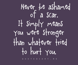 quote, scars, and text image