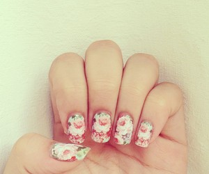 floral, girly, and nails image