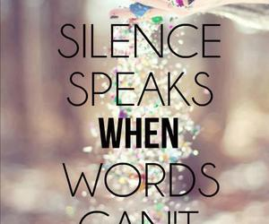 quote, silence, and words image