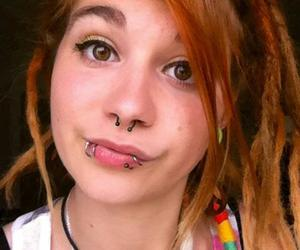 dreads, piercing, and smoke image