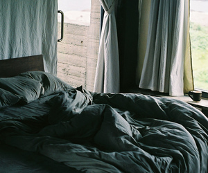 bed, photography, and blue image