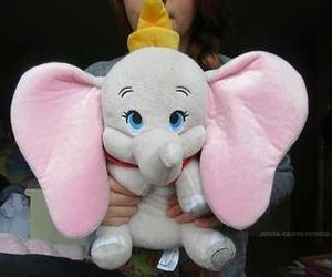 cute, elephant, and dumbo image
