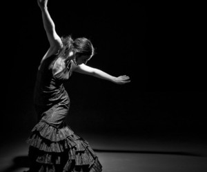 black and white, dance, and flamenco image