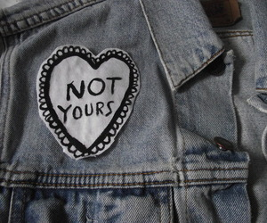grunge, not yours, and heart image