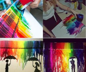 colors, art, and crayon image