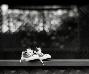 all star, black and white, and bokeh image