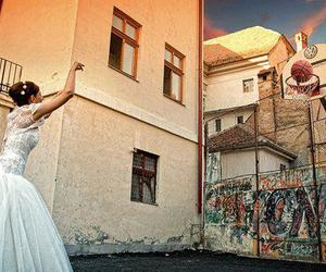 Basketball, bride, and dress image