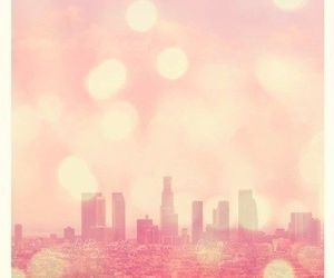 city and pink image