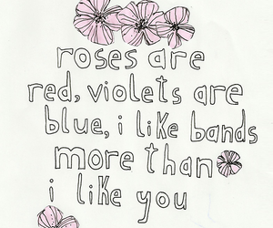band, quote, and rose image