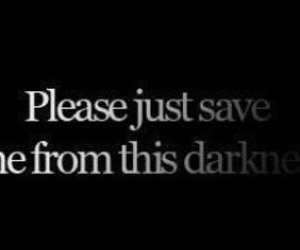 black and white, Darkness, and quote image