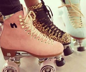 pink, skate, and shoes image