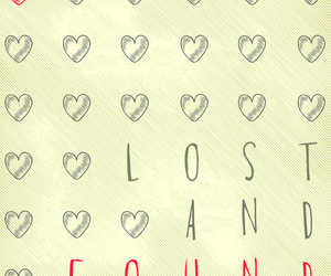 found, heart, and lost image